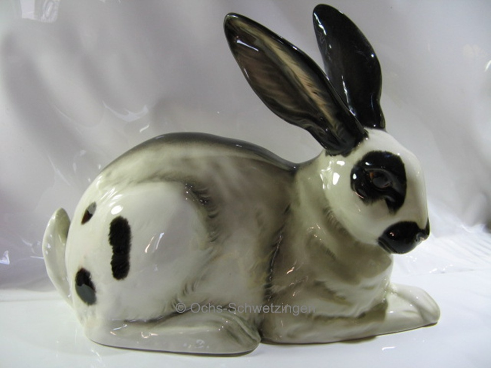 goebel figur gro er hase osterhase schwarz wei ca b 32cm x h 24 cm ebay. Black Bedroom Furniture Sets. Home Design Ideas