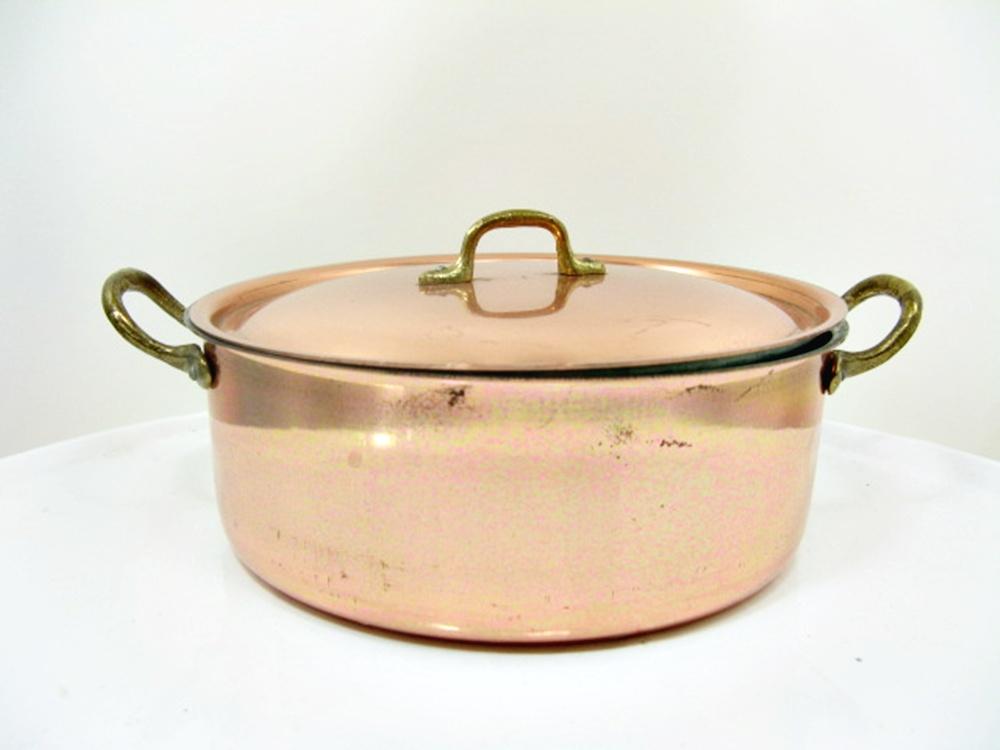Kupfer topf kaserole mit deckel ca 17 5 cm for Deckel englisch