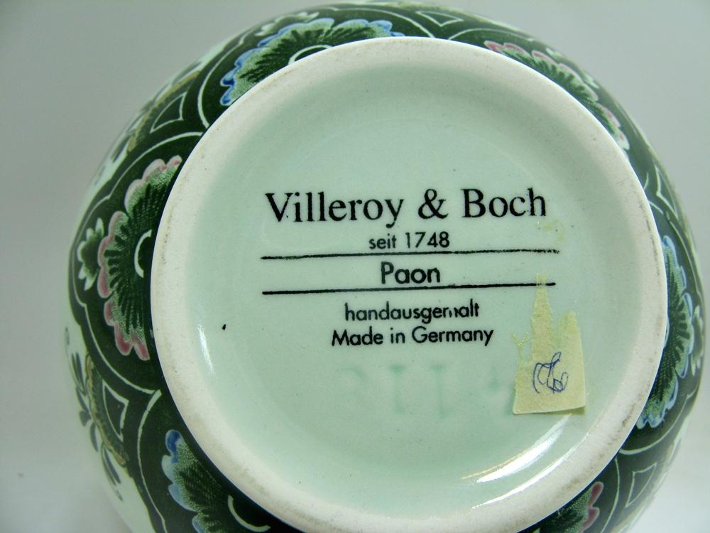 villeroy boch paon green vase approx 14 5 cm. Black Bedroom Furniture Sets. Home Design Ideas
