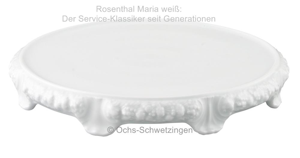 rosenthal maria wei tortenplatte mit fu ca 31 cm ebay. Black Bedroom Furniture Sets. Home Design Ideas