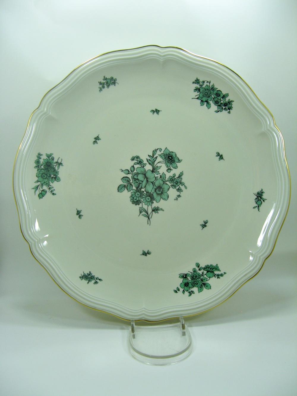 rosenthal chippendale tortenplatte gr ne rosen ca 33 5 cm ebay. Black Bedroom Furniture Sets. Home Design Ideas